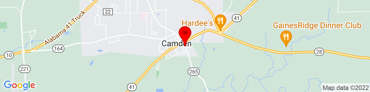 Google Map of 31.99027379999999, -87.2880701