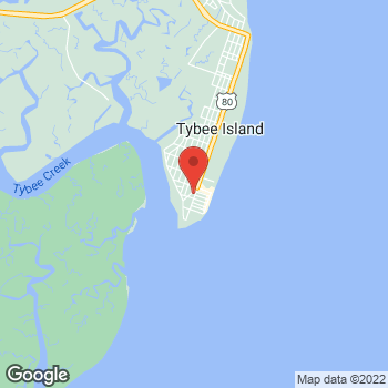 Map of Arby's at 1601 Butler Ave, Tybee Island, GA 31328