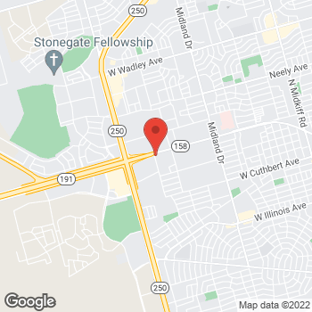 Map of Joseph P Bruner, MD at 4911 Andrews Highway, Midland, TX 79703