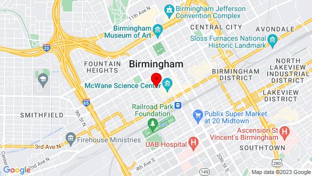 Google Map of 310 18th Street North, Birmingham, AL 35203