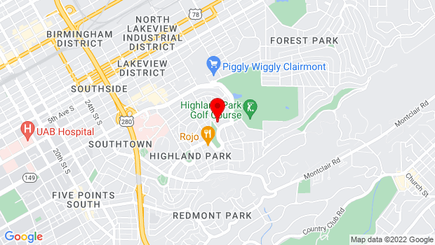 Google Map of 3100 Highland Avenue, Birmingham, AL 35205
