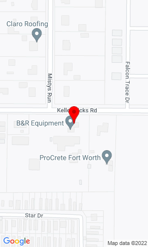Google Map of B&R Equipment 3100 Keller Hicks Road, Fort Worth, TX, 76244