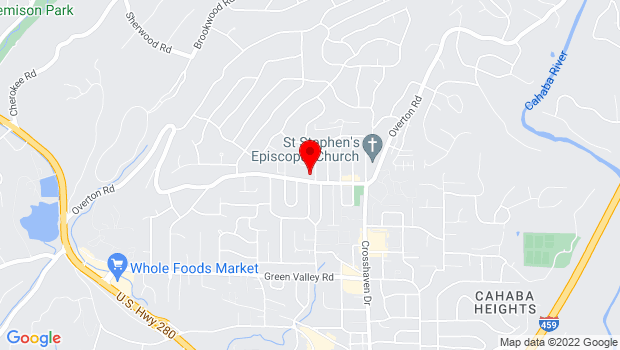 Google Map of 3100 Overton Rd., Mountain Brook , AL 35223