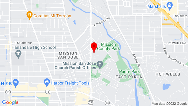 Google Map of 3100 Roosevelt Ave, San Antonio, Texas 78214