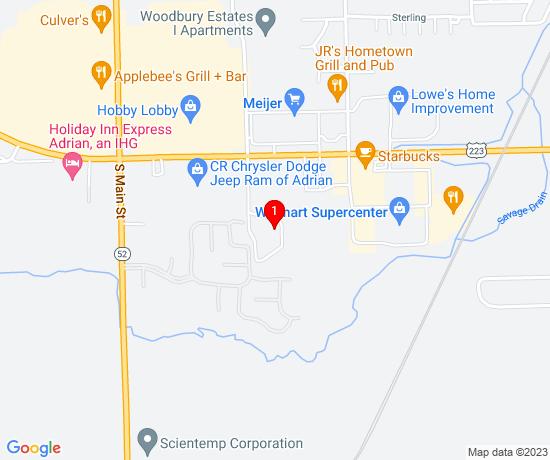 Google Map of 3100 S Winter St, Adrian MI 49221