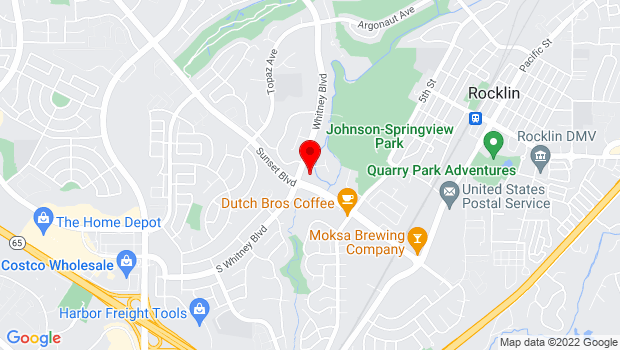 Google Map of 3101 Sunset Blvd. , Rocklin, CA 95677