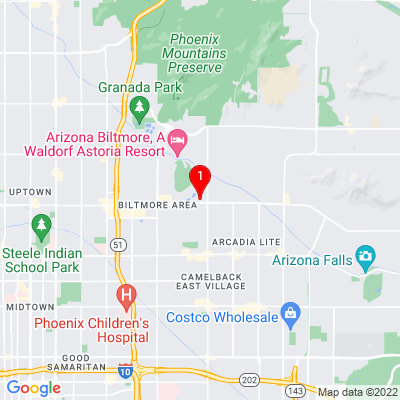 Google Map of 3104 E Camelback Phoenix, AZ 85016