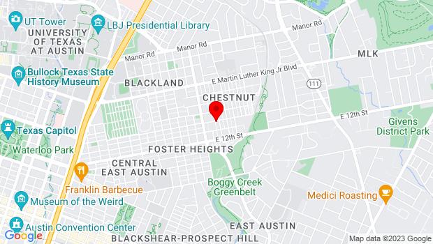 Google Map of 3106 E 14 1/2 St, Austin, TX 78702