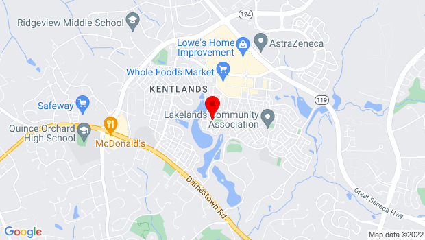 Google Map of 311 Kent Square Rd, Gaithersburg, MD 20878