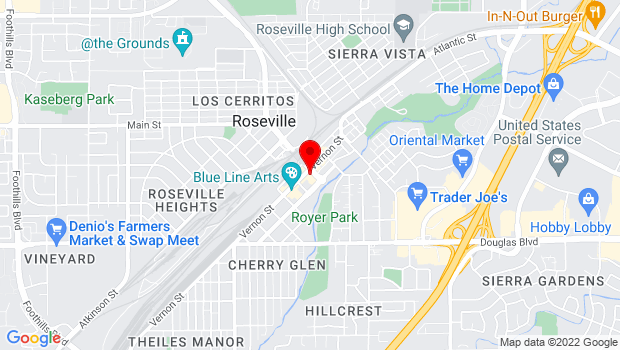 Google Map of 311 Vernon Street, Roseville, CA 95678