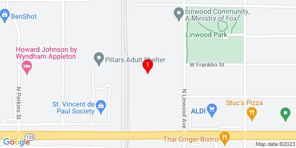 Google Map of 311 North Linwood Ave., Appleton WI 54914
