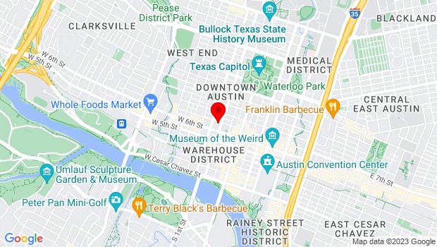Google Map of 311 West 7th Street, Austin, TX 78701