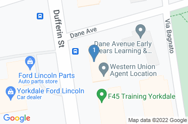 Google Map of 3111 Dufferin St, North York, ON M6A 2S7, Canada