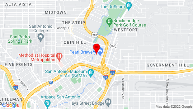 Google Map of 312 Pearl Pkwy, San Antonio, TX 78215, San Antonio, TX 78215