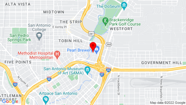 Google Map of 312 Pearl Pkwy, San Antonio, TX 78215