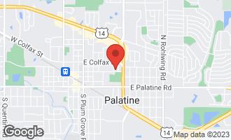 Map of 312 East Wood Street PALATINE, IL 60067
