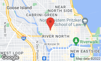Map of 312 West Huron Street PH Chicago, IL 60654