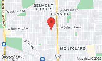 Map of 3121 North Odell Avenue CHICAGO, IL 60634