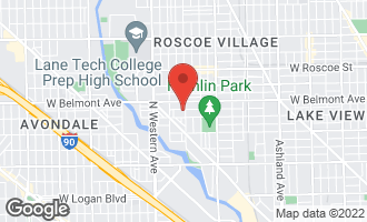 Map of 3124 North Leavitt Street Chicago, IL 60618