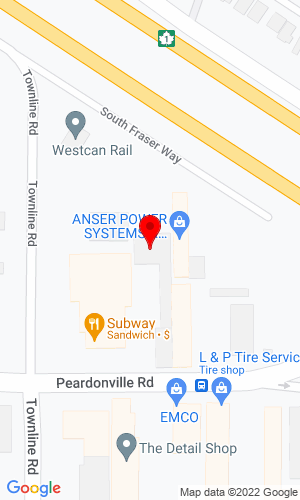 Google Map of Powerscreen Canada Western 31244 South Fraser Way, Abbotsford, British Columbia, Canada, V2T6L5