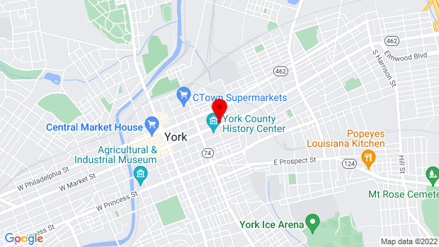 Google Map of 313 E Market st, York, PA 17402