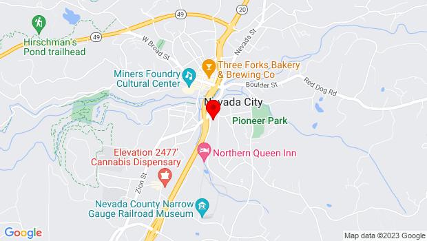 Google Map of 313 Railroad Ave., Ste. 101, Nevada City, CA 95959