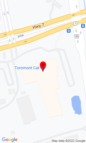 Google Map of Toromont Cat 3131 Highway 7, PO Box 5511, Concord, ON, L4K5E1