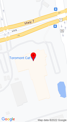 Google Map of Toromont Power Systems 3131 Highway 7, PO Box 5511, Concord, Ontario, Canada, L4K5E1