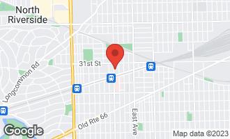 Map of 3131 Oak Park Avenue 1B BERWYN, IL 60402