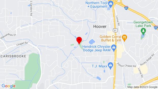Google Map of 3140 Club Drive, Hoover , AL 35216