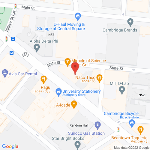 Map of the area around Middlesex Lounge