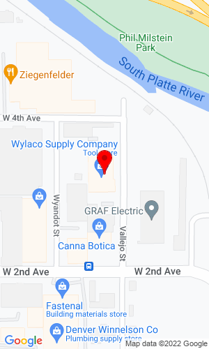 Google Map of Wylaco Supply Company 315 Vallejo Street, Denver, CO, 80223