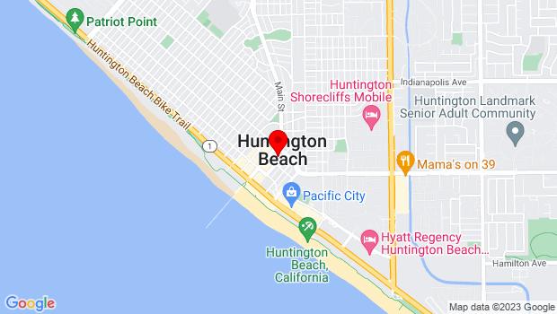 Google Map of 315 3rd St, Ste E, Huntington Beach, CA 92648