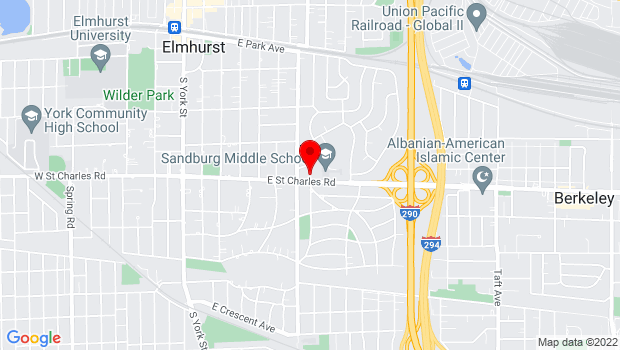 Google Map of 315 E. St. Charles Road, Elmhurst, IL 60126