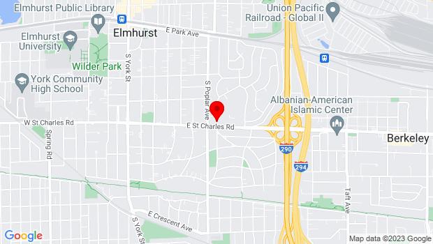 Google Map of 315 E. St. Charles Road, Elmhurst, IL 60126