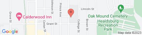 Google Map of 315 Grant St, Healdsburg, CA 95448