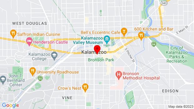 Google Map of 315 W Michigan, Kalamazoo, MI