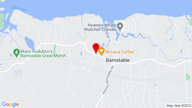 Google Map of 3166 Main Street, Barnstable, MA