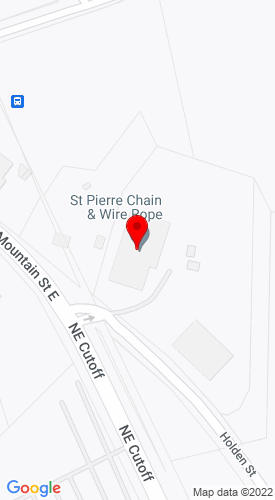 Google Map of St. Pierre Chain & Wire Rope 317 East Mountain Street, Worcester, MA, 01606