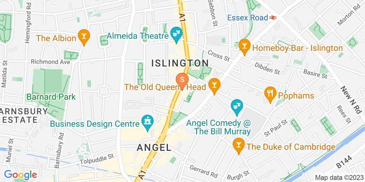 Google Map of 317-318 Upper Street London N1 2XQ