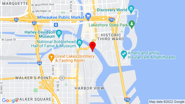 Google Map of 318 S. Water Street, Milwaukee, WI 53204