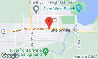 Map of 318 West Main Street Shelbyville, IL 62565