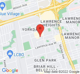 Google Map of 3180+Dufferin+Street%2CToronto%2COntario+M6A+2T1