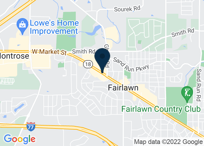 Map of 3180 West Market St, Akron, OH 44333, United States
