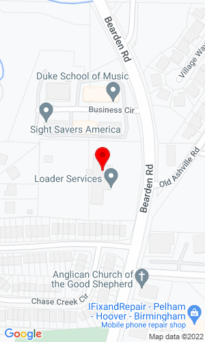 Google Map of Loader Services & Equipment, Inc. 319 Beardon Road, Pelham, AL, 35124