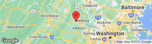 Map of 319 COLONIAL HIGHWAY W HAMILTON, VA 20158