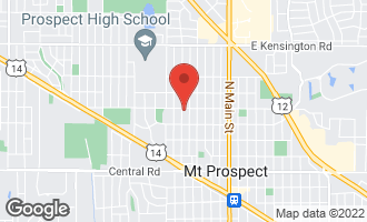 Map of 319 North Prospect Manor Avenue MOUNT PROSPECT, IL 60056