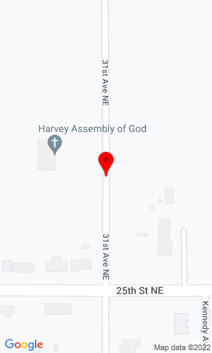 Google Map of LTD AEGROUP 31st Ave NE, Harvey, ND, 58341