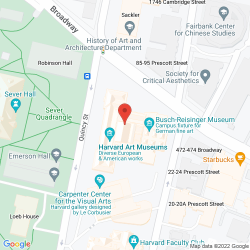 Map of the area around Harvard Art Museums