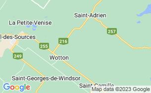 Map of Camping De La Rivière Nicolet